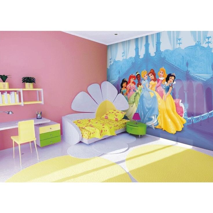 Le papier peint de toutes les princesses disney for Chambre princesse disney
