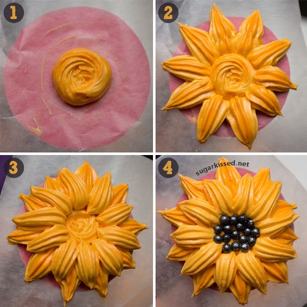 With dimensional icing flowers it's easy to make stunning cookies, cupcakes, and other sweets!
