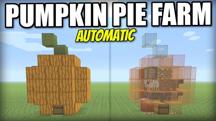 Minecraft PS4 - AUTOMATIC PUMPKIN PIE FARM - Tutorial - PE / Xbox / PS3 / Wii U - YouTube