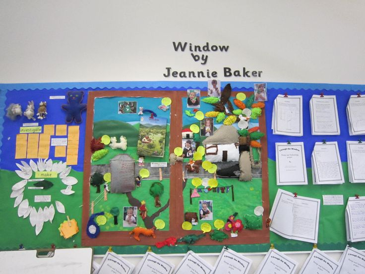 Thurton Primary School. Display based on Window by Jeannie Baker - sewing for DT Y3/4.