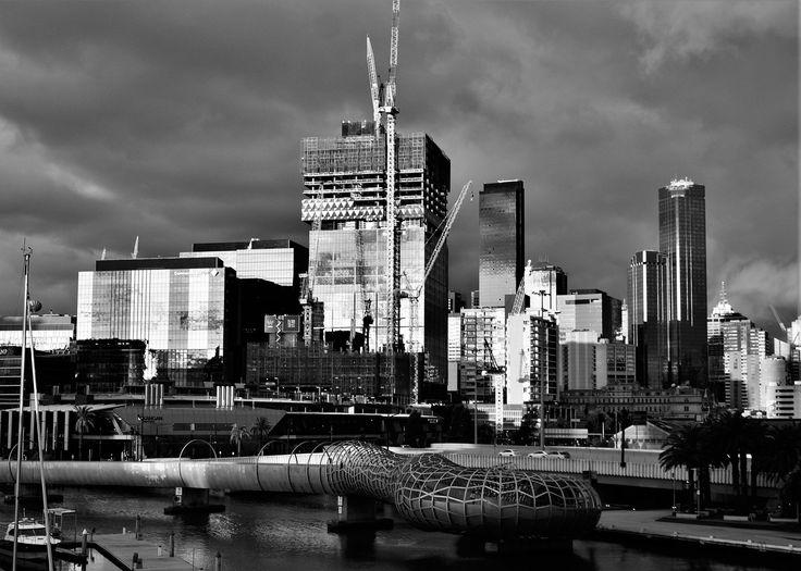 https://flic.kr/p/Hha3Lj | Giulia Bergonzoni photography #architecture #city #buildings #skyline #Melbourne #victoria #australia #docklands #black #white #bergonzoni #giulia #photography #amazing #places #love #photographers