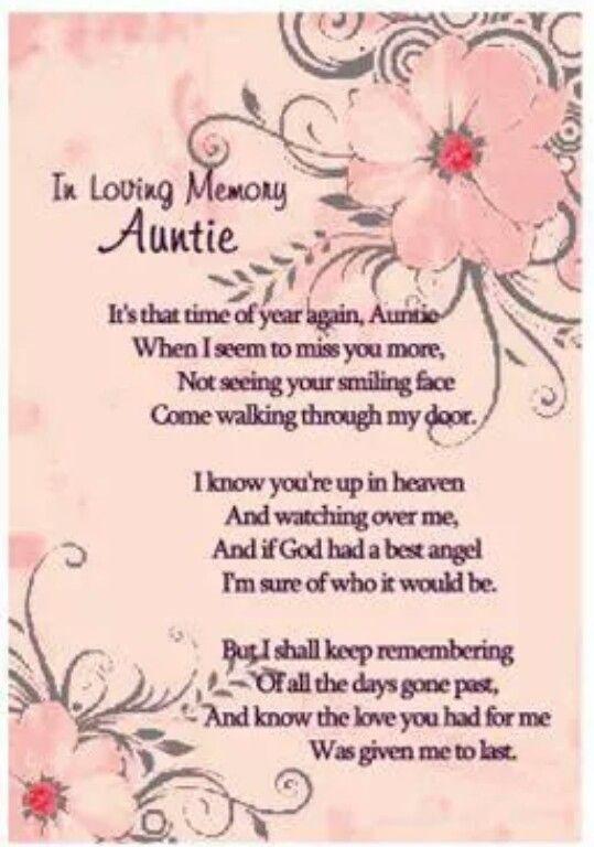 Loving My Aunt Memory