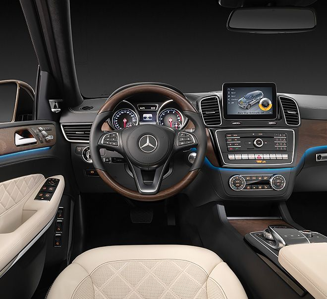 The Mercedes-Benz GLS offers state-of-the-art connectivity and infotainment.