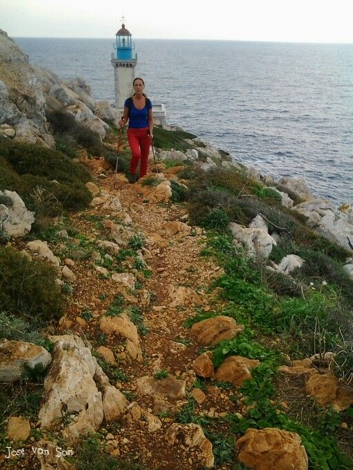 Walking to Cape Tenaro,  Mani Greece
