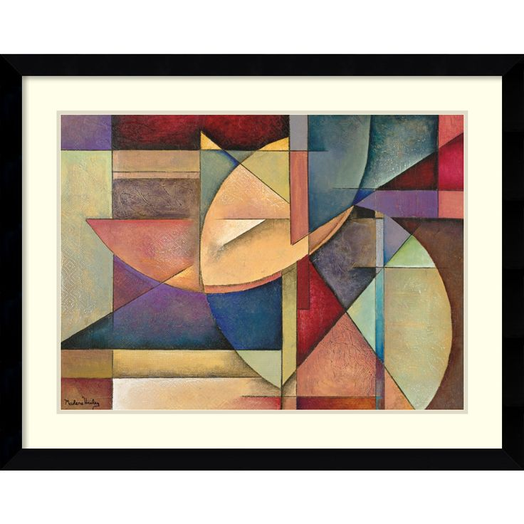 For a space that has never looked sleeker, this  handsomely modern framed art print by artist Marlene Healey is a must-have. This stylish wall hanging is an abstract composition that is framed in a satin black frame for added visual appeal.