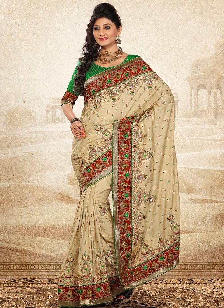Buy Magnificent Manipuri silk saree online from the wide collection of Sari. This Beige Saree in Silk goes well with any occasion. Shop online for Wide range of silk sarees, cotton sarees, wedding saris  &  more at Cbazaar.com