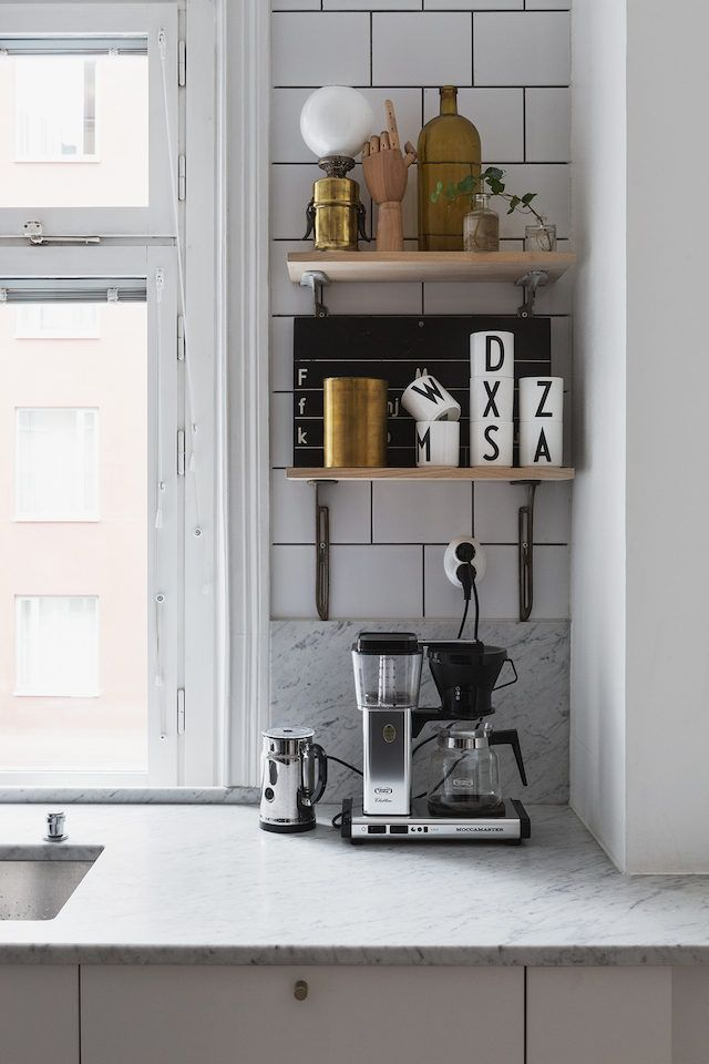 Monochrome touches in a Stockholm pad