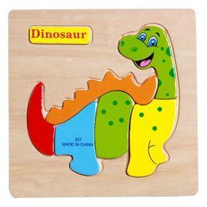 d de madera juguetes de madera para nios de dibujos animados de animales puzzle