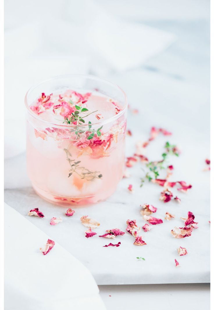 Rose petal & thyme cocktail