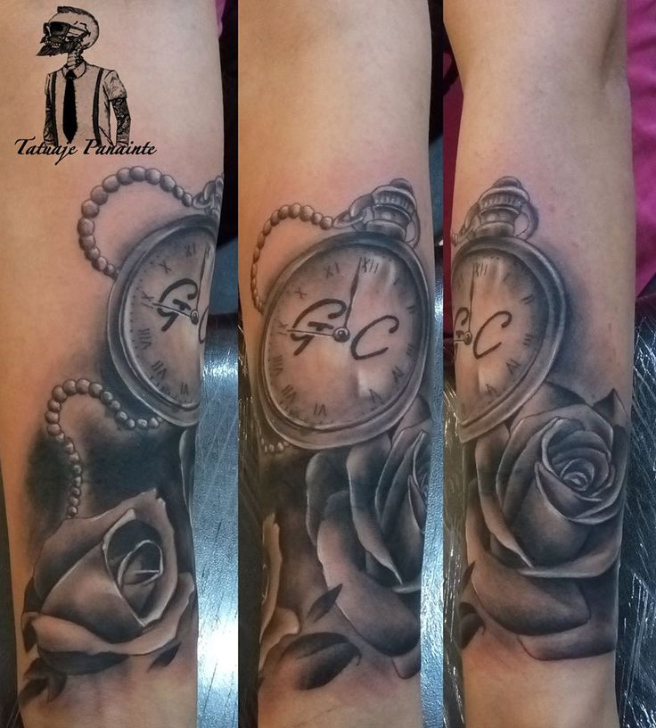 #watch #tattoo and #rose