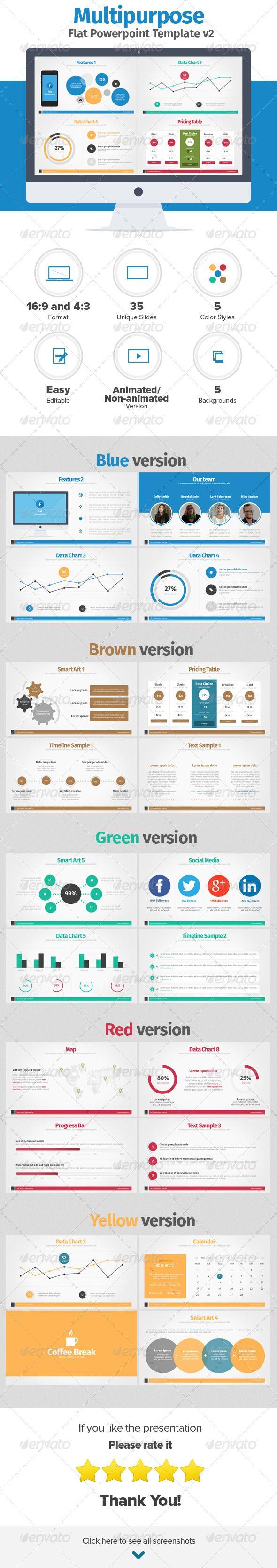Multipurpose Flat Powerpoint Presentation v2 - Powerpoint Templates Presentation Templates