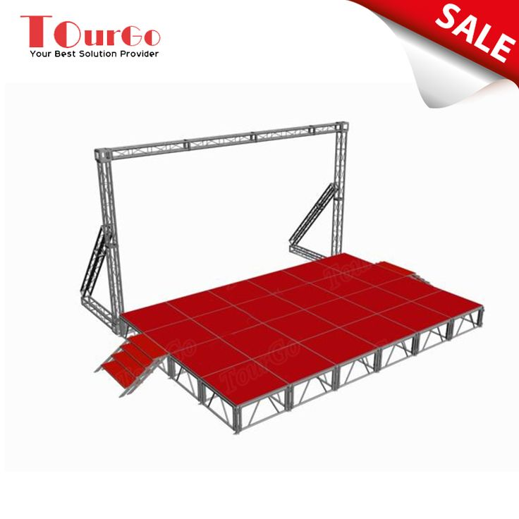 TourGo Outdoor Fashion Show Stage Rental with LED Lighting Truss for Sale