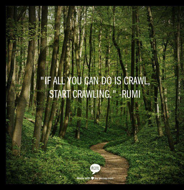 Het is belangrijk om in beweging te blijven om iets te bereiken. Stilstaan is achteruit gaan...: