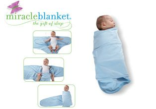 Miracle Blanket Since we are on the subject of swaddling, let me profess my love for the appropriately named, Miracle Blanket. We would literally spend ten minutes wrapping the man like a burrito, so tight it was questionable if his breathing was affected and in two minutes flat a tiny hand would emerge from said swaddle. No bueno. Enter Miracle Blanket. Even Houdini is stuck in this little baby straight jacket, comfy, cozy, and fast asleep for hours. Baby loves swaddling, Mama loves…