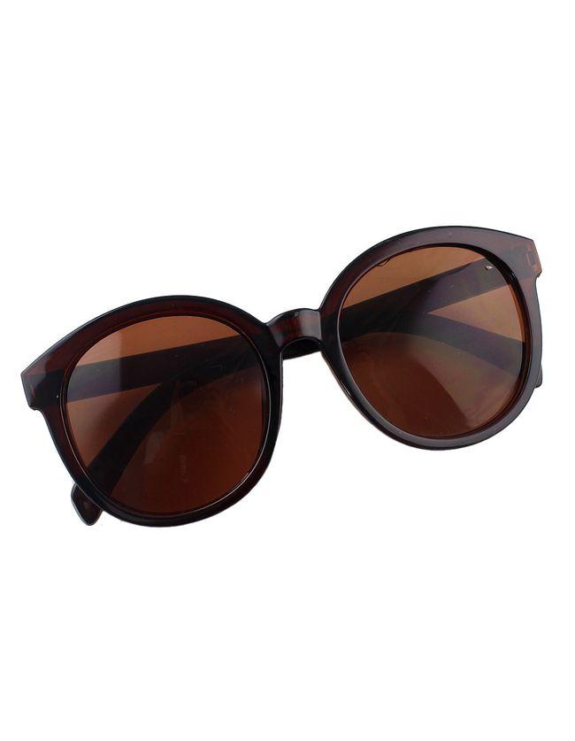 Coffee Oversized Round Sunglasses 8.99
