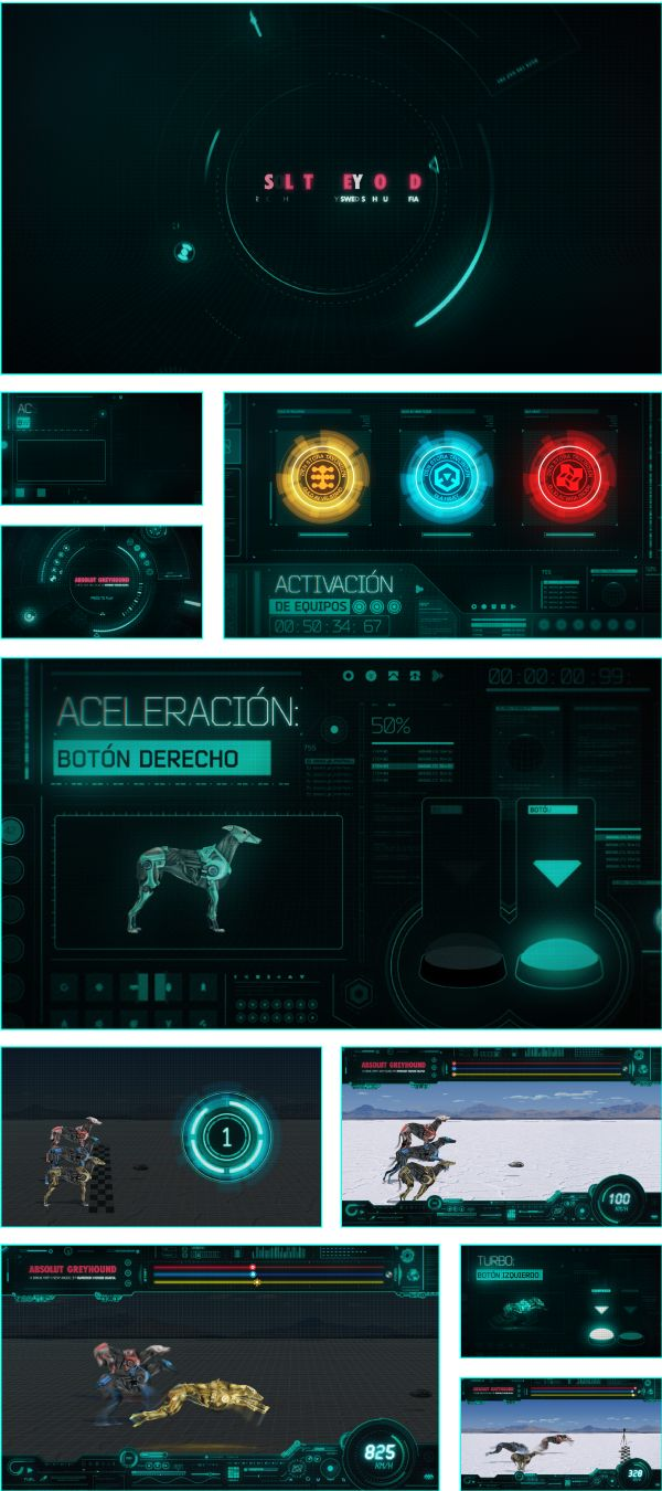 Absolut Greyhound Race Video Game by Nutone , via Behance