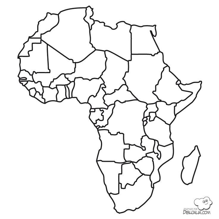 Mapa paises Africa