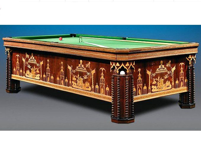 This Extraordinary French Billiard Table Is Crafted Of Opulent Rosewood In  Gothic Revival Style.Circa 1830 58 Wide X 105 Length X 33 High