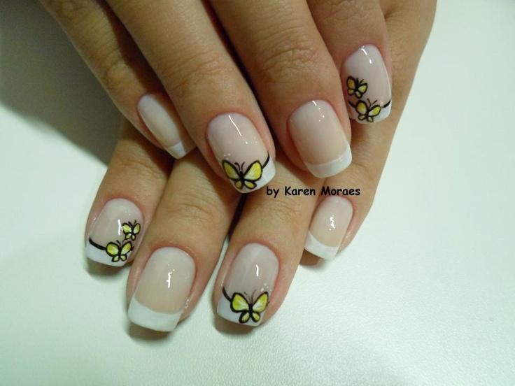 simple and really cute buterflies easy toenail