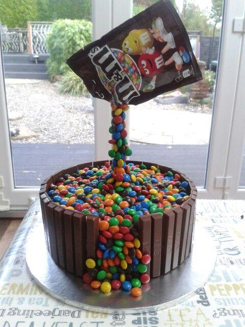 M&Ms gravity cake                                                       …