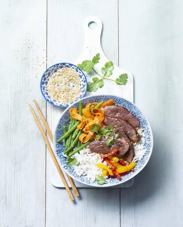 Power bowl au magret de canard façon bibimbap pour 4 personnes / recette minceur / healthy food