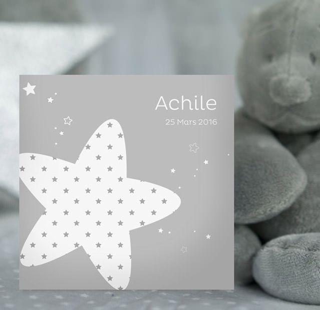 Faire-part Noukie's Poudre d'étoiles (Achile)