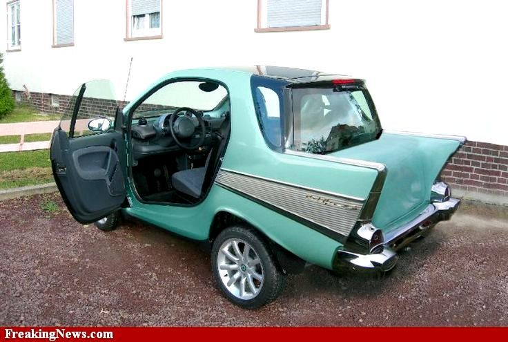 Smart With A 57 Chevy Kit On Rear Cool Mini Cars Pinterest Clic And Car Body Kits