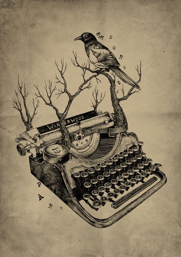 """""""There's nothing to writing. All you have to do is sit down at the typewriter and bleed."""" Hemingway"""