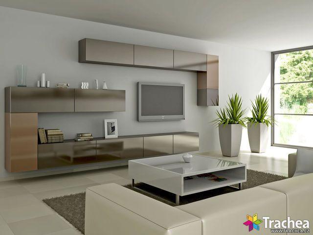 Obývací pokoj (Dekory pro dvířka: 7-4 - hnědý bronz)