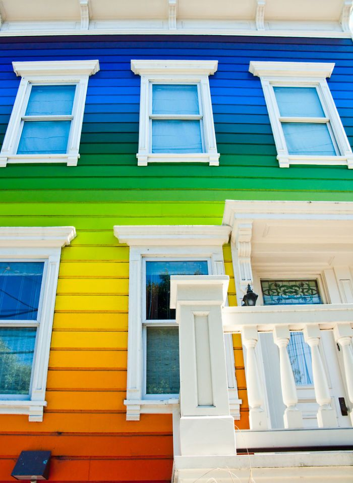 Image result for 3 story rainbow house