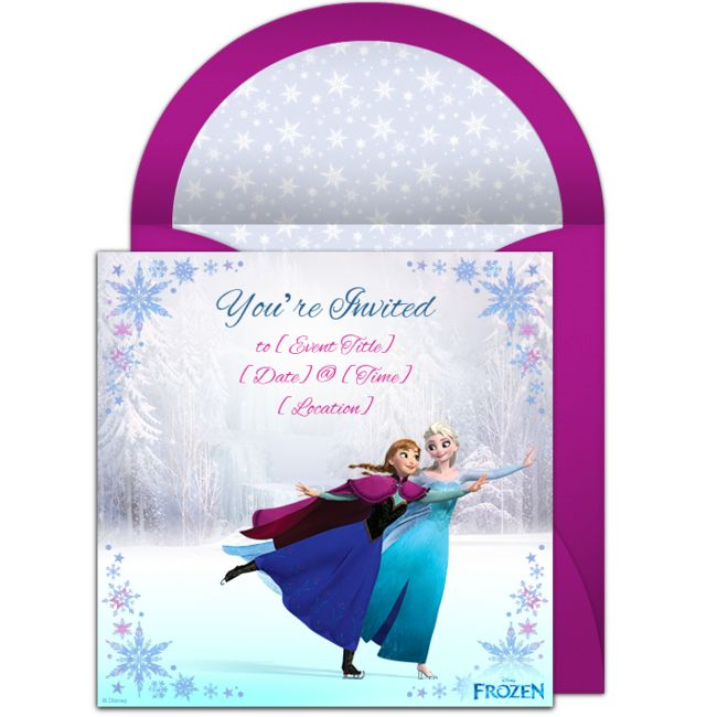 free frozen ice skating invitations