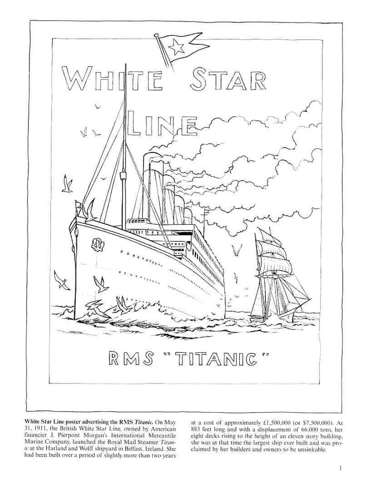 titanic coloring pages for adults | 18 best Coloring Pages/LineArt Titanic images on Pinterest ...