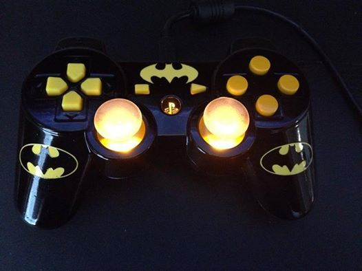 Custom Batman Playstation Controller. https://www.facebook.com/pages/Ricks-Custom-Controllers/525728804122995