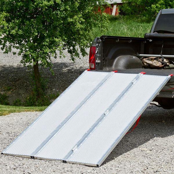 Atv Truck Ramps >> Black Widow Aluminum Extra-Wide Punch Plate Tri-Fold ATV ...