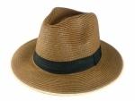 Chapéu Modelo Panamá tecido Flexivel Faixa e Borda na cor