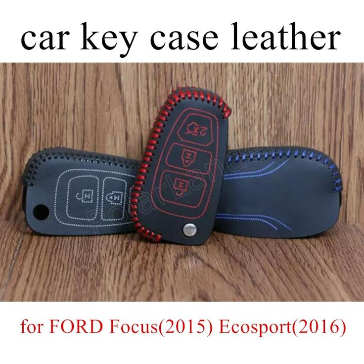for FORD Focus(2015) Ecosport(2016) Mondeo(2013) SMAX(2008) Tourneo(2008) hand sewing leather car key case cover