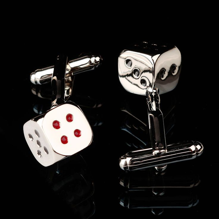 Men Male Silver Dice Pattern Square Cuff Links Wedding Gift Suit Shirt Accessories at Banggood sold out