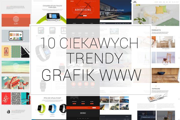 10 ciekawych trendy grafik www