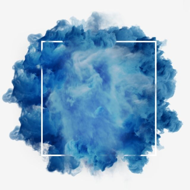 Blue Smoke Abstract Meteorological Phenomenon Electric Blue