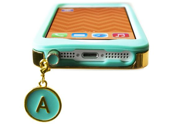 Charm School Alphabet Jewelry dust plug for your cell phone. $5.99