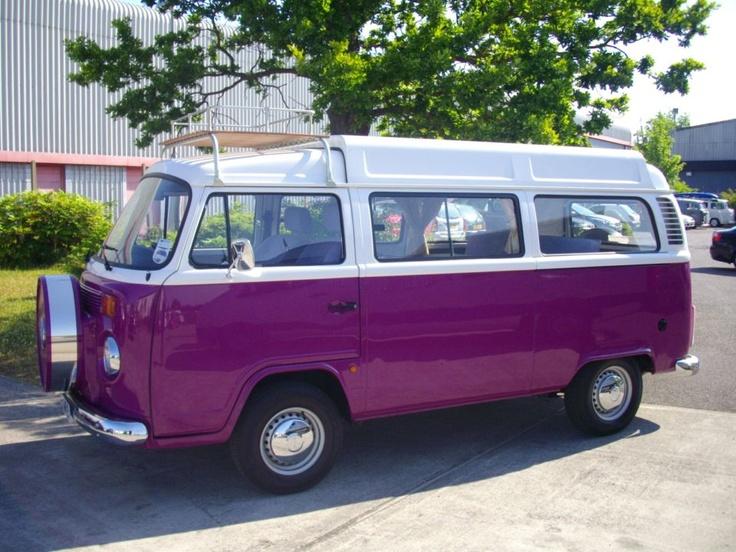 Volkswagen Camper Van >> Purple VW van | •volkswagens• | Pinterest | Voitures, Liste de souhaits et Souhait