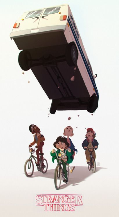 Stranger things by Abel Tébart