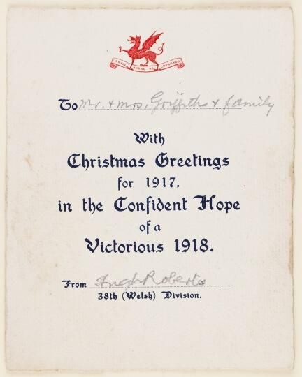 46 best greetings cards images on pinterest division christmas 38th welsh division m4hsunfo
