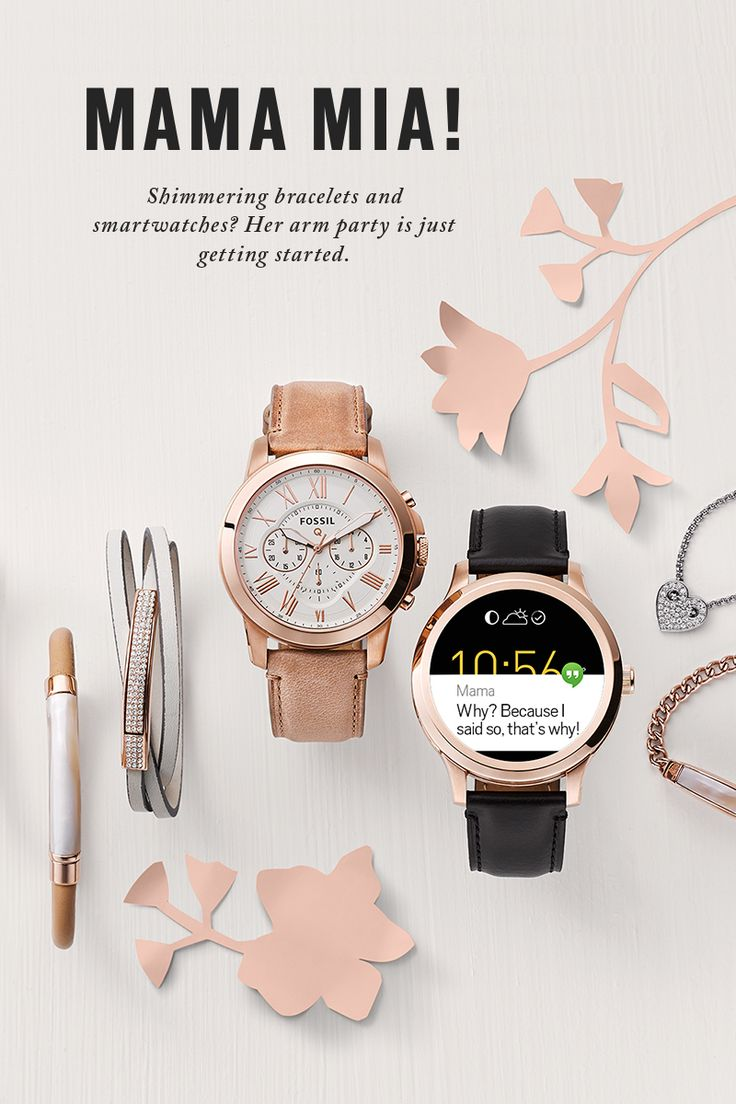 Get her (arm) party started with shimmering smartwatches and bracelets for Mother's Day.