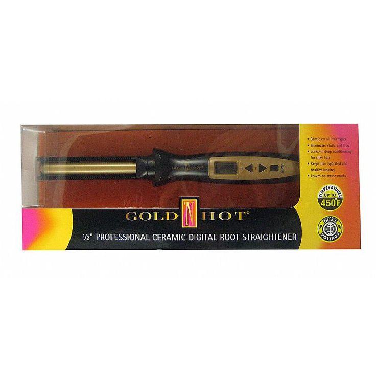 Goldn Hot Professional 1/2 inch Ceramic Digital Root Straightener - GH3116
