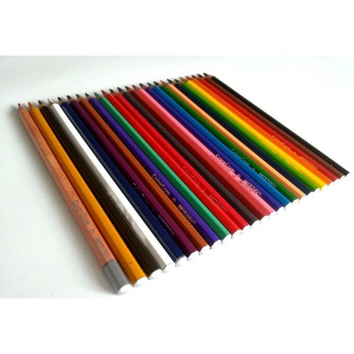 Creioane colorate, 24 culori/set, ColorCore - Creioane colorate profesionale - Articole pentru scoala - Rechizite