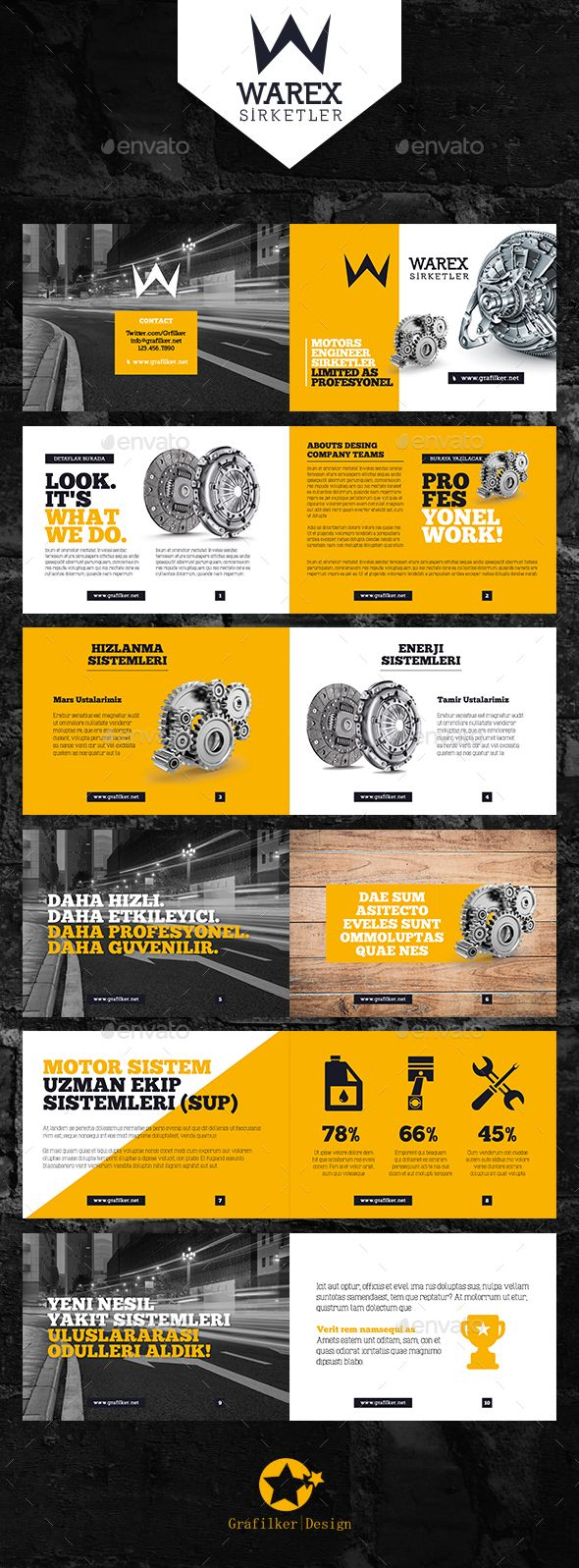 Product Information Brochure Templates PSD, InDesign INDD