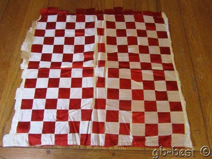 Antique Victorian Red Silk Ribbon Weave Pillow Topper Quilt Block Philadelphia E | eBay