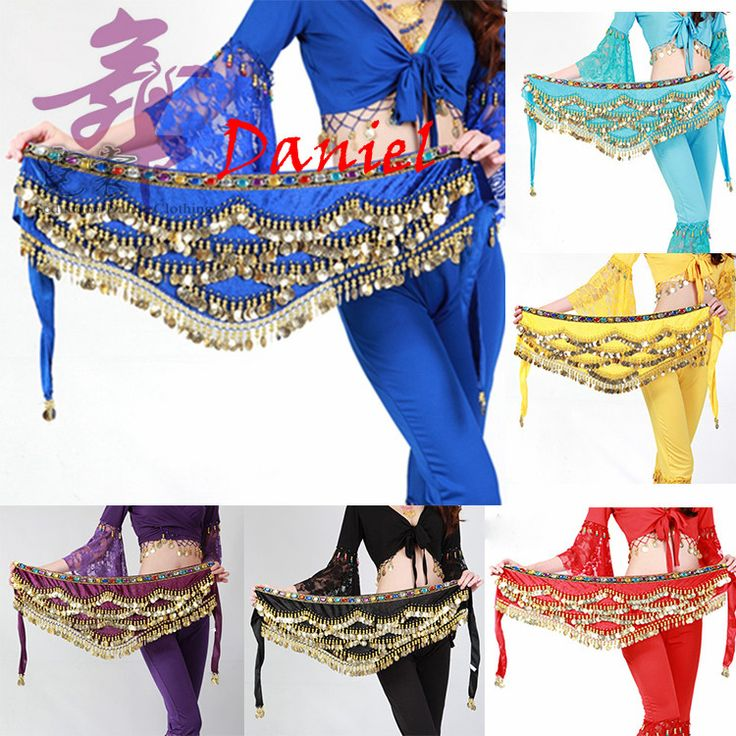 Cheap Dancewear Women Training Clothing Triangle Hip Scarf Colorful Rhinestone Adjustable Fit 300 Gold Coins Belly Dance #Affiliate