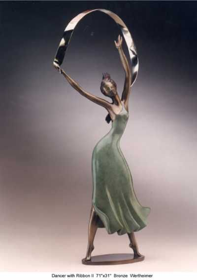 Bronze Portrait /commission sculpture by artist Esther Wertheimer titled: 'Dance with Ribbon II' £25,900